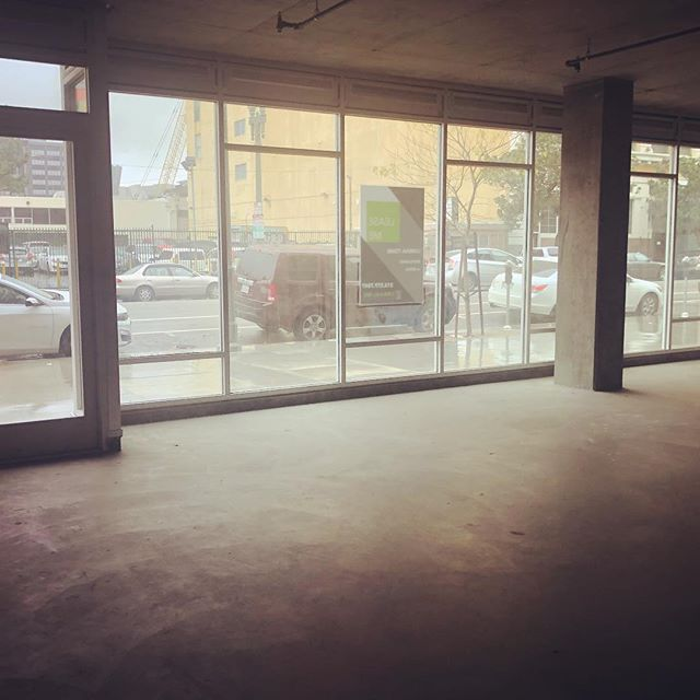 Calm before the construction at one of our projects in downtown LA