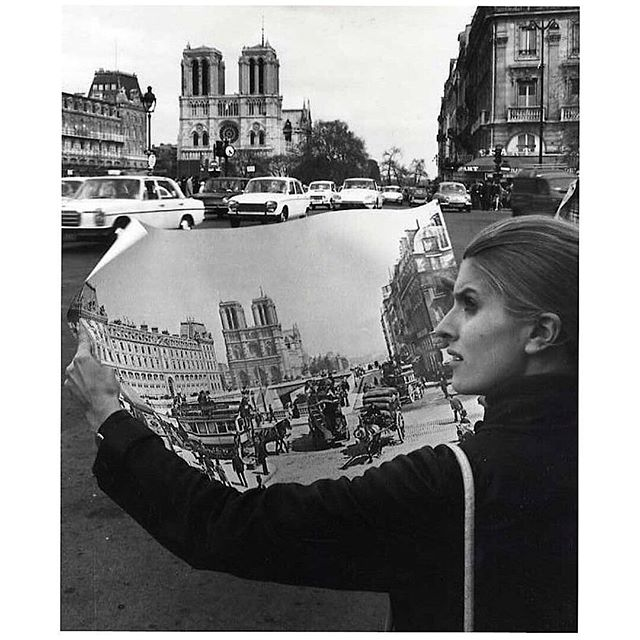 Our heart & soul 🖤💔 📷 #robertdoisneau #notredame #paris #1977 #nowords #jepleure