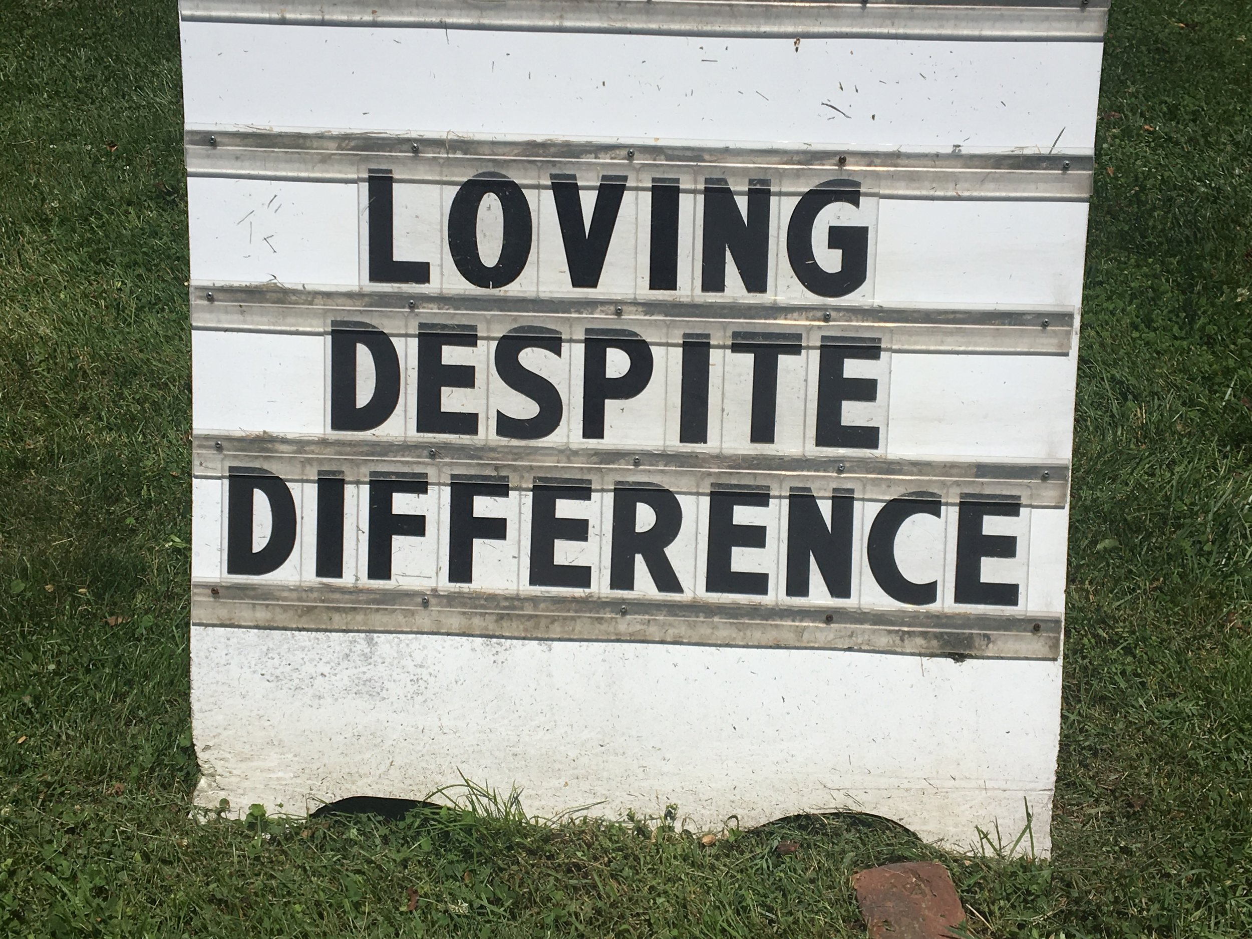 (The placard outside the United Methodist Church of New Canaan this past week. How wonderful to think of all the people who saw this message as they passed by and how it might have been internalized.)