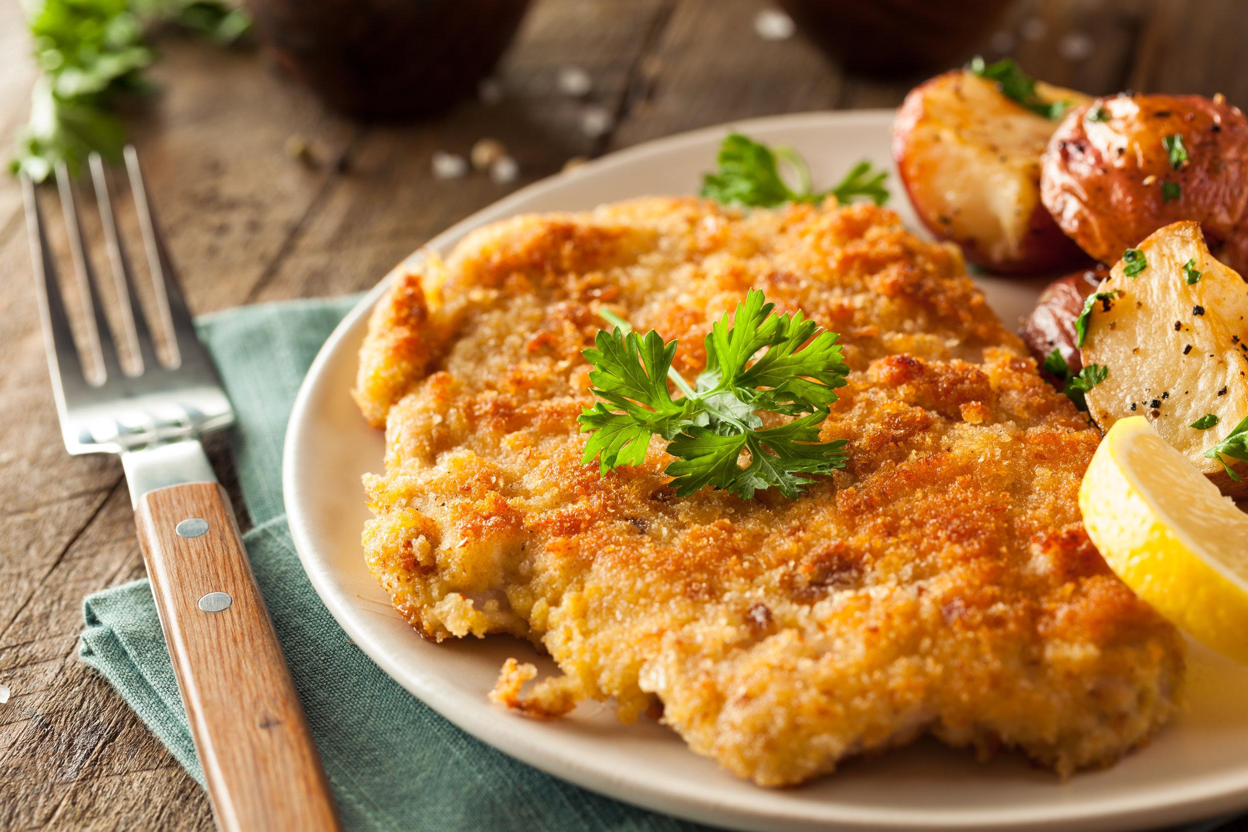 Our Famous Pork Schnitzel