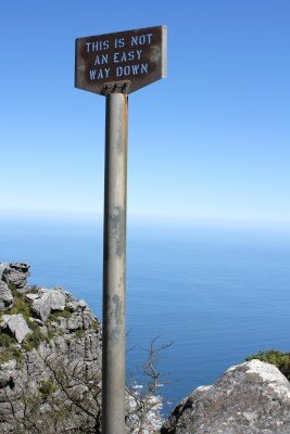 Not easy way down sign.jpg