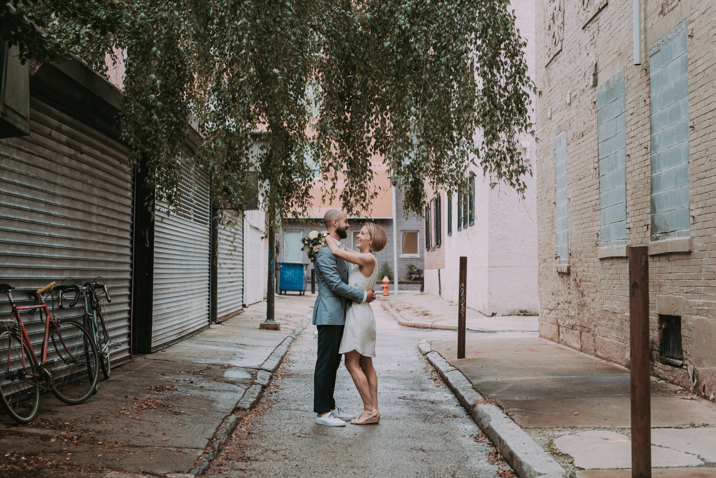 Philadelphia Summer Bicycle Elopement