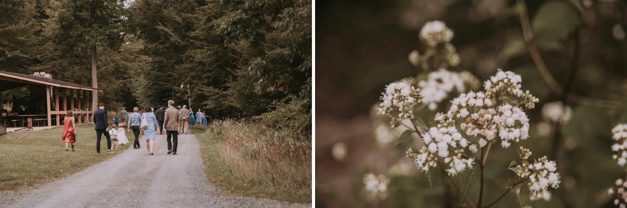 Rustic Intimate Vegan Forest Wedding with Handmade Dress