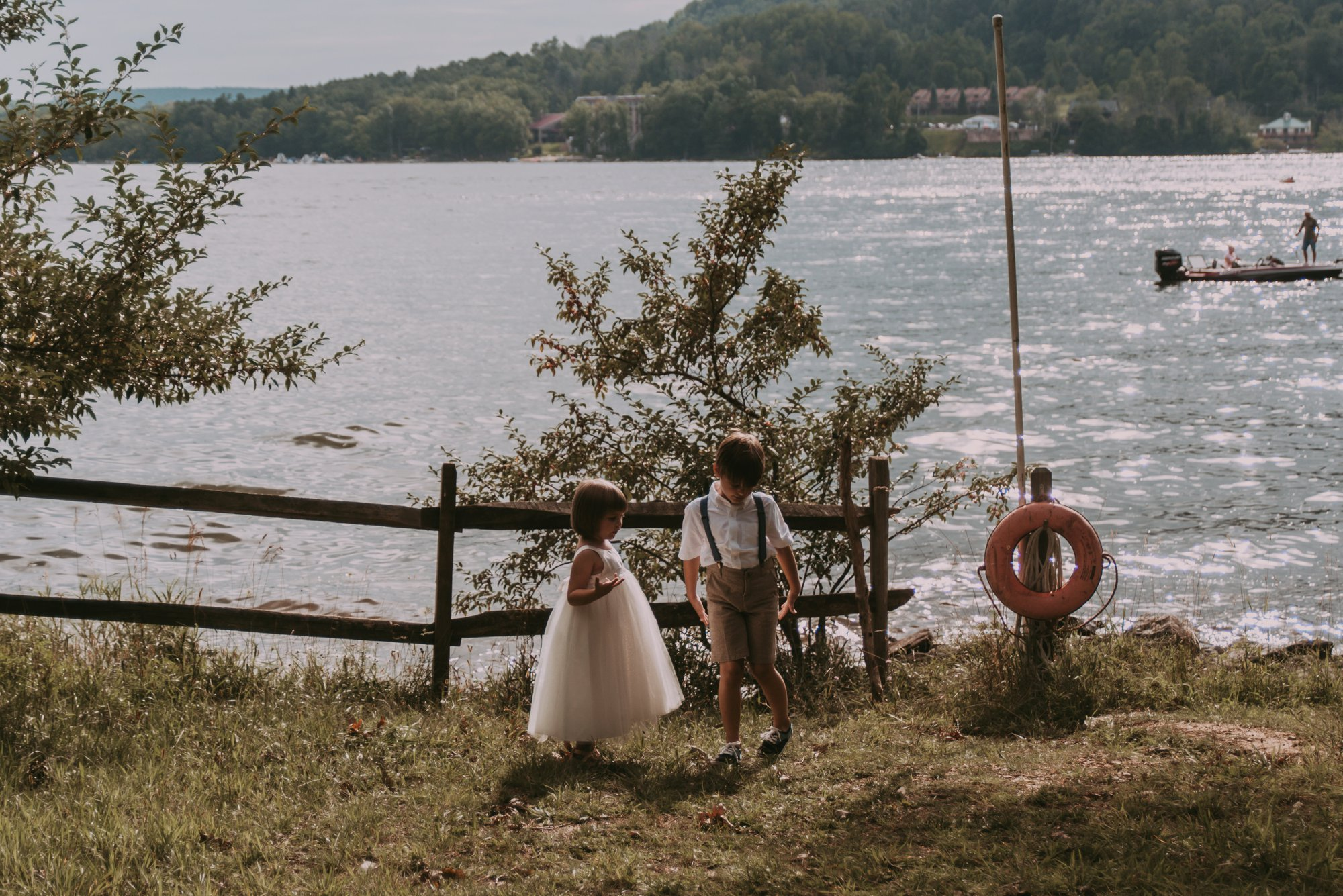 Rustic Intimate Vegan Forest Wedding with Handmade Dress. Flower Girl and Ring Bearer