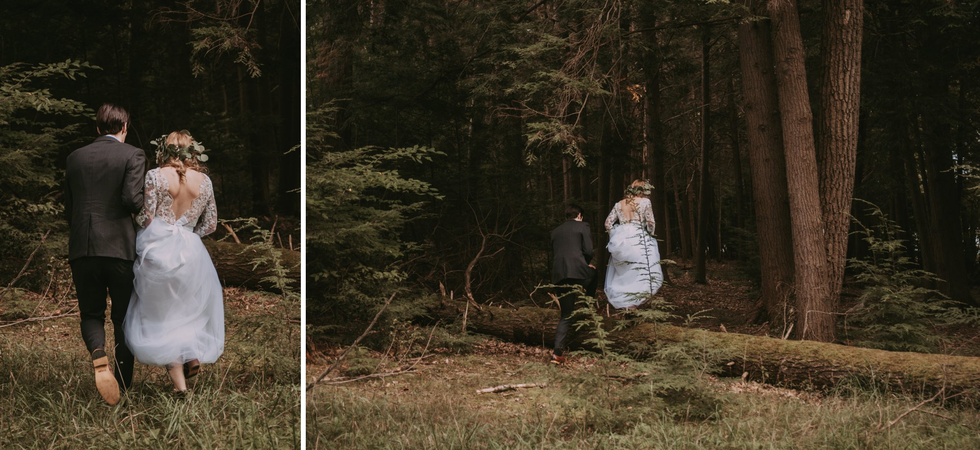 Rustic Intimate Vegan Forest Wedding with Handmade Dress.