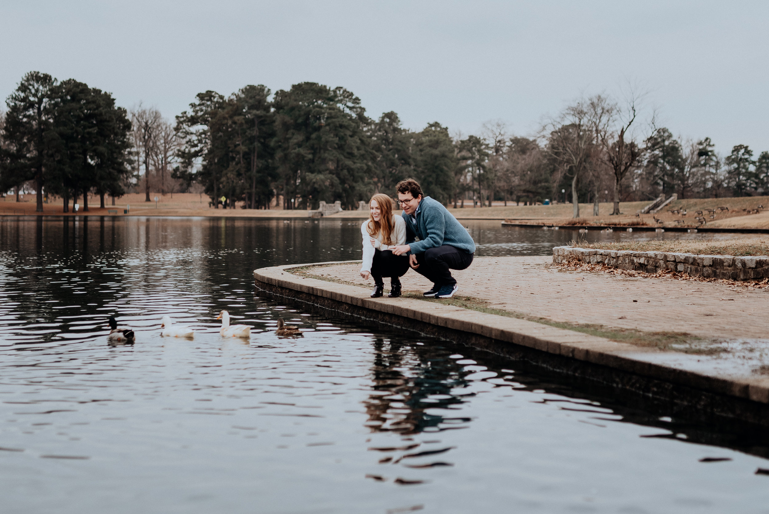 Richmond VA Byrd Park Swan Lake Engagement Session