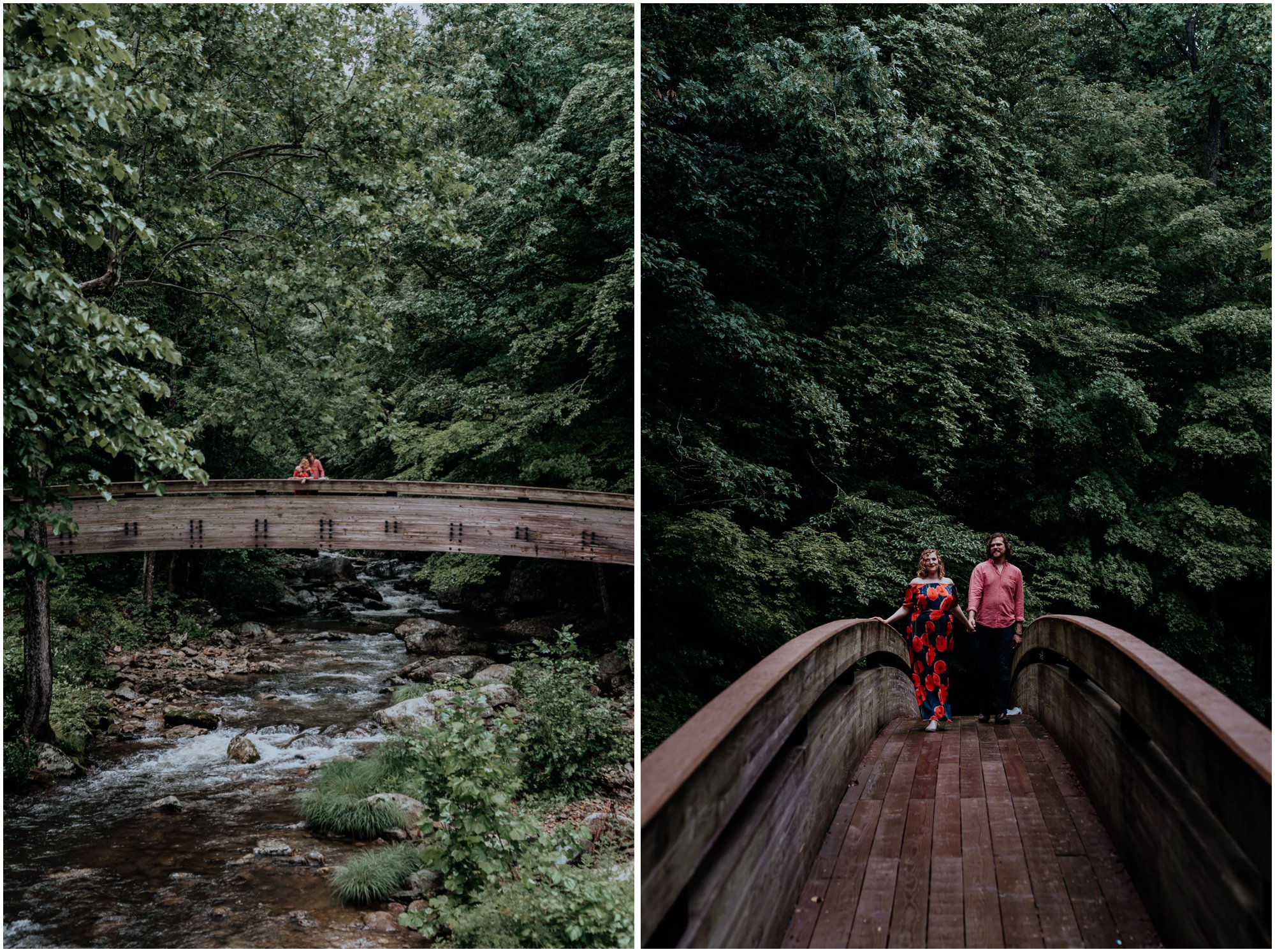 Crabtree Falls Waterfalls Adventure Engagement Session in the Blue Ridge Mountains