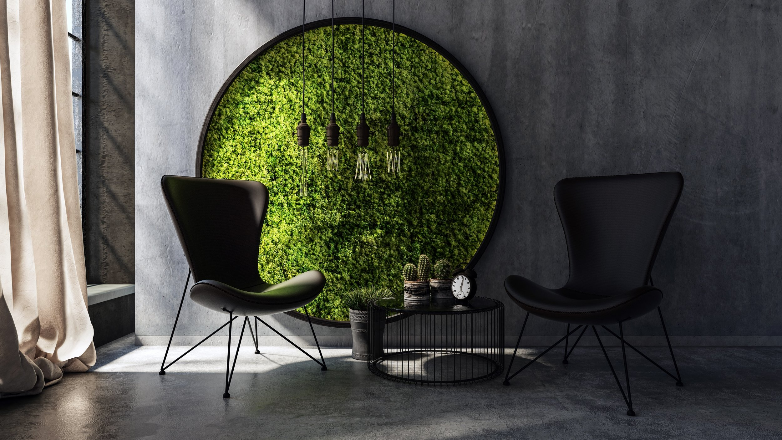 "2. Living Walls - We find the more Greenery we have surrounding ourselves the more at peace we seem to feel. why not give soul to what was once a ""lifeless"" wall in your home? we promise you wont tire looking at it.No matter what colour palette you may choose for your new design, natural greenery always finds a way to immerse itself into it's backdrop."