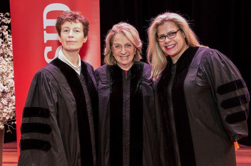 Honorary doctorate degrees were presented to Alexa Hampton;  Wendy Goodman , design editor at  New York Magazine , and  Daisy Soros , NYSID alumna and philanthropist.