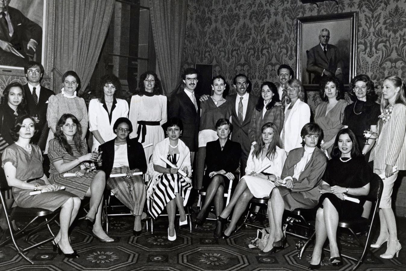 """NYSID Class of 1984: Former editor of  Vogue  and  Harper's Bazaar   Sarah Tomerlin Lee  was the guest speaker at NYSID's 1988 commencement ceremony that took place at the University Club. Lee spoke of the honor of being a part of such a noble profession, """"This is the gateway moment of your lives. I am glad we are all interior designers because we can leave the world a far more beautiful view and inspirational place."""""""