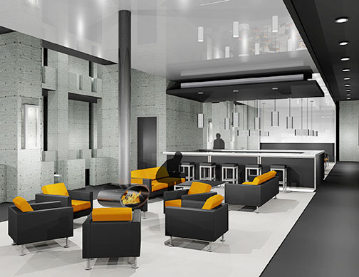 Lounge Area, M.B.A. Athletic Center