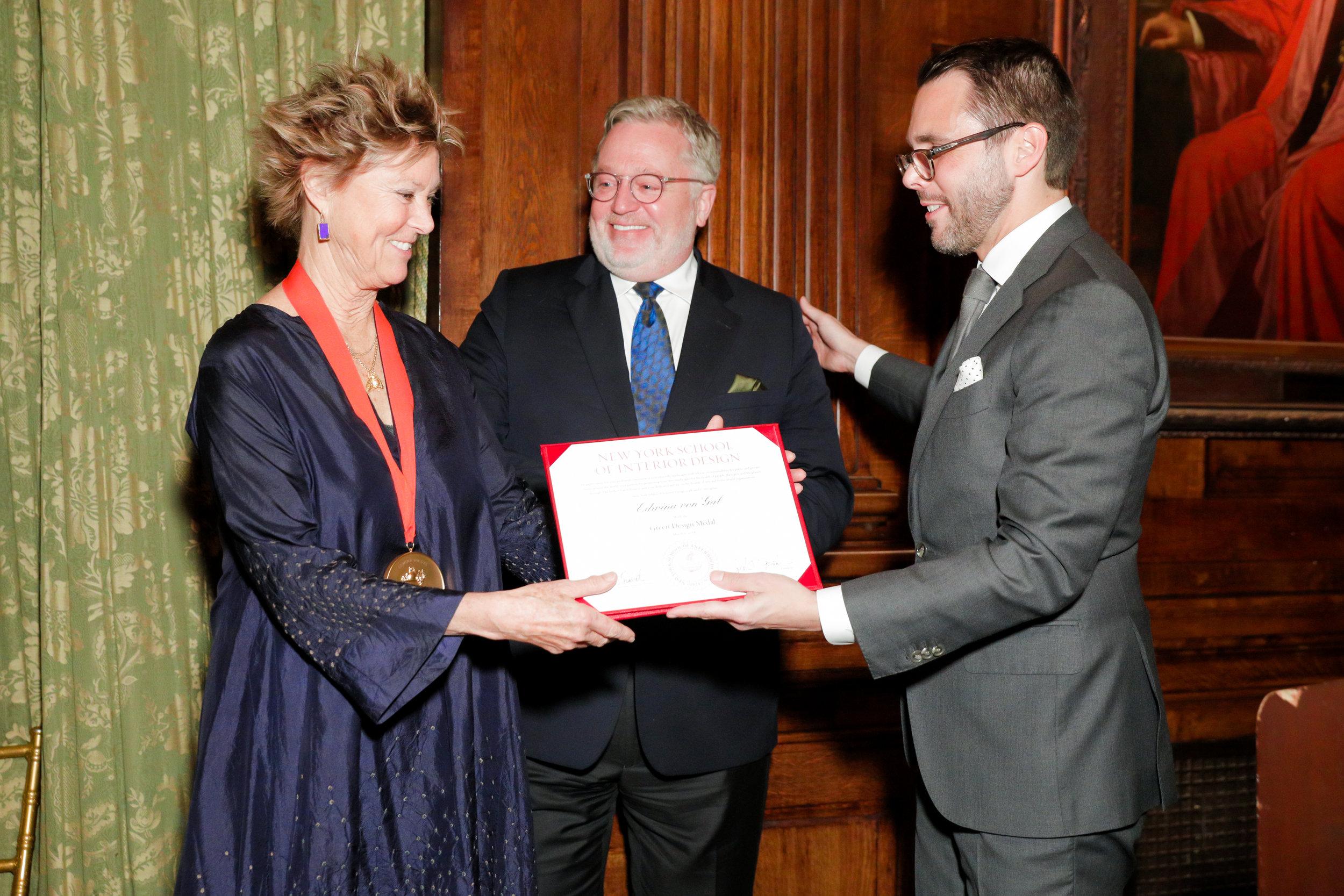 Edwina Von Gal (Honoree), Newell Turner (Gala co-chair/Trustee), David Sprouls