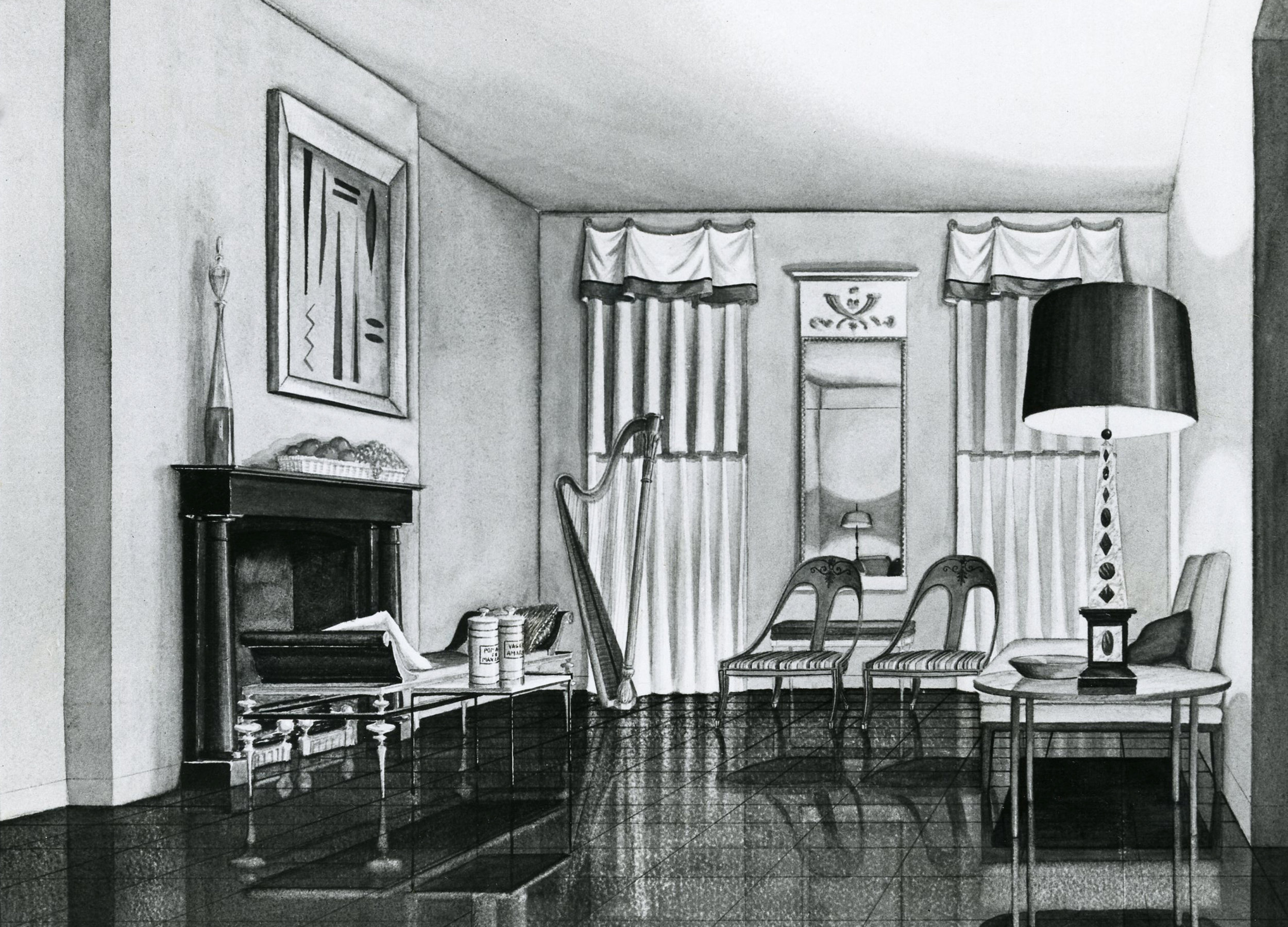 hand-rendering-and-model-of-a-one-room-house-by-gil-velasquez-1953_24118519619_o.jpg