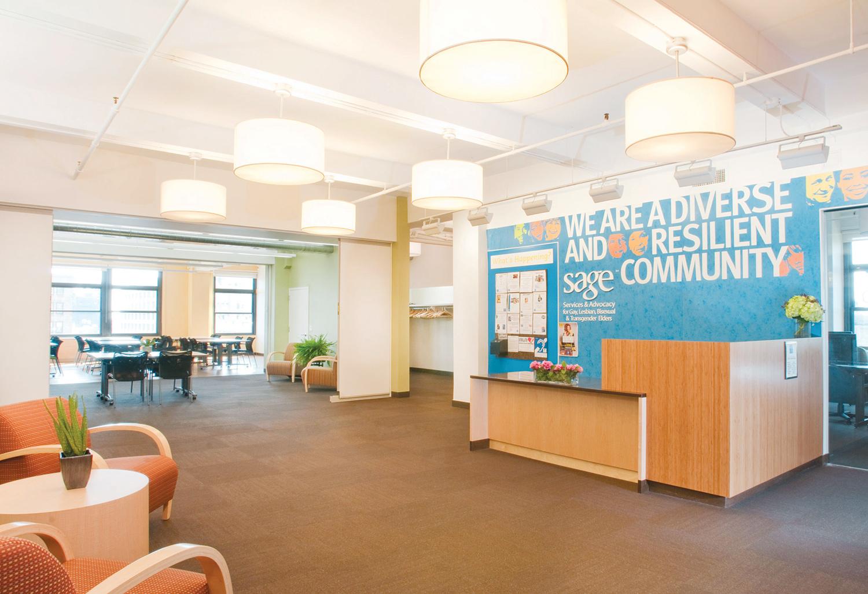 Eddie Winsor SAGE Center, Reception Area