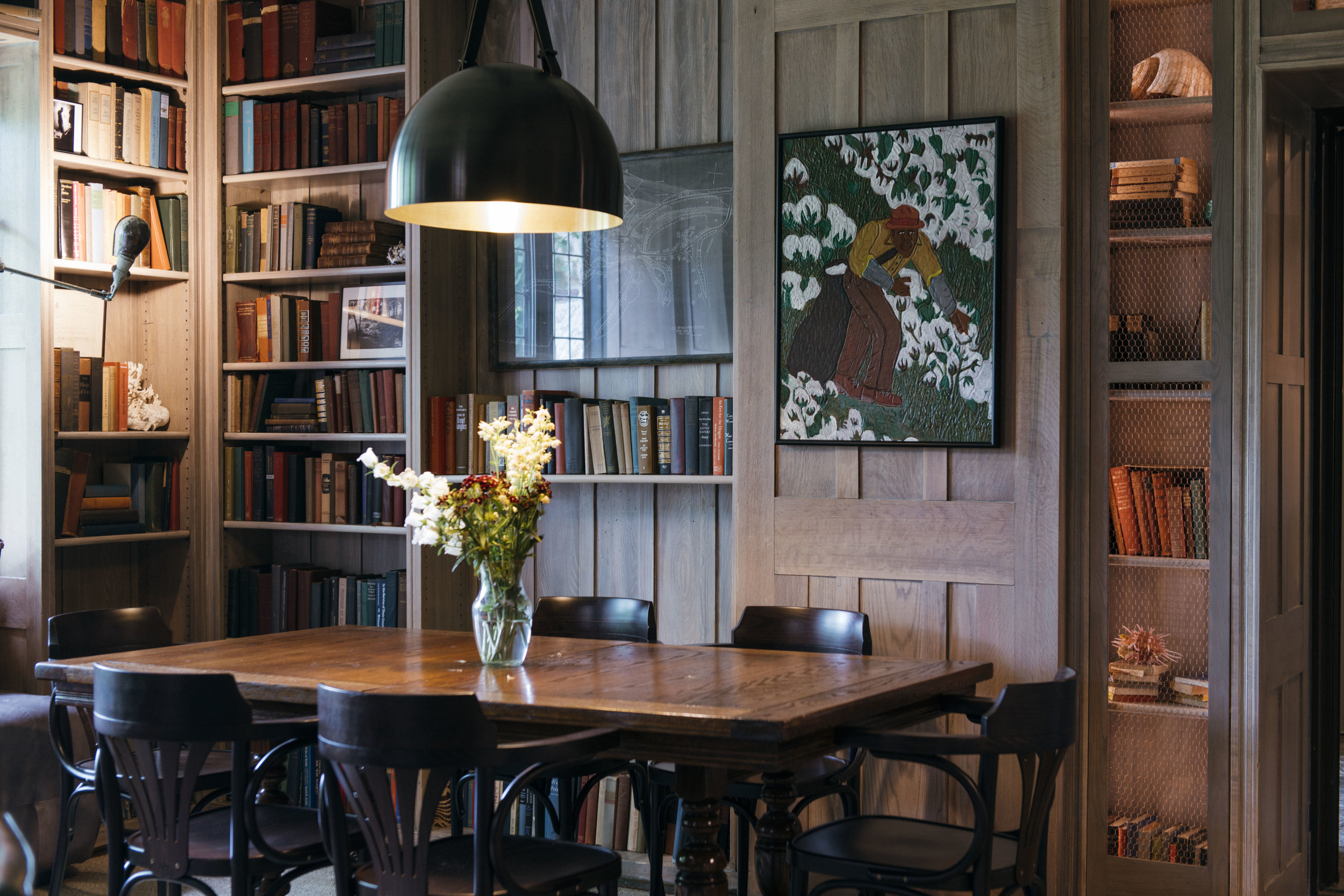 Library at Troutbeck located in Amenia New York