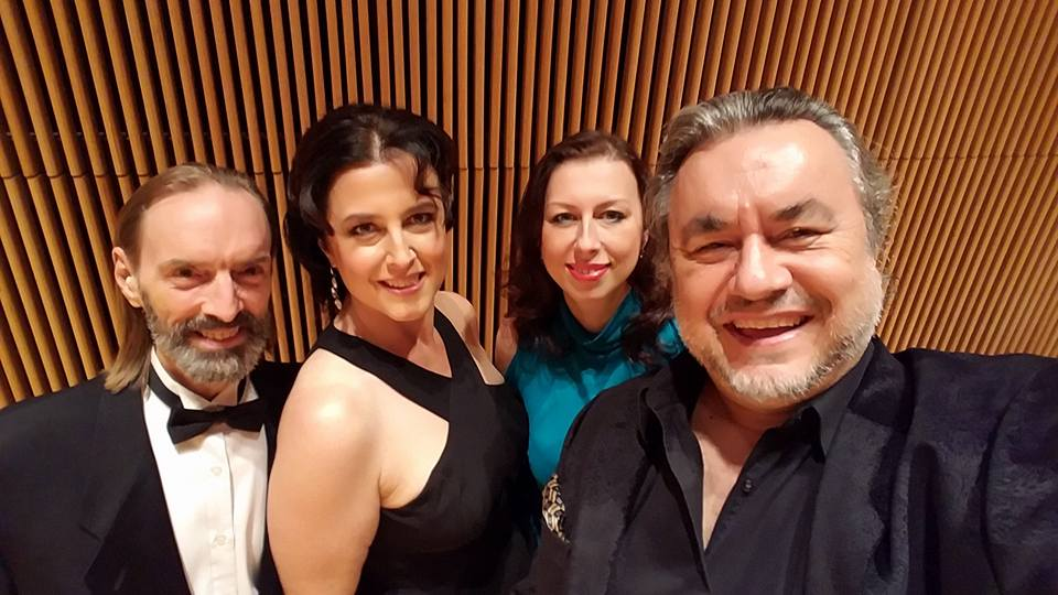 From left: Me, Soprano Julianna Milin, Mezzo-Soprano Viktoryia Koreneva, Bass Valentin Peytchinov