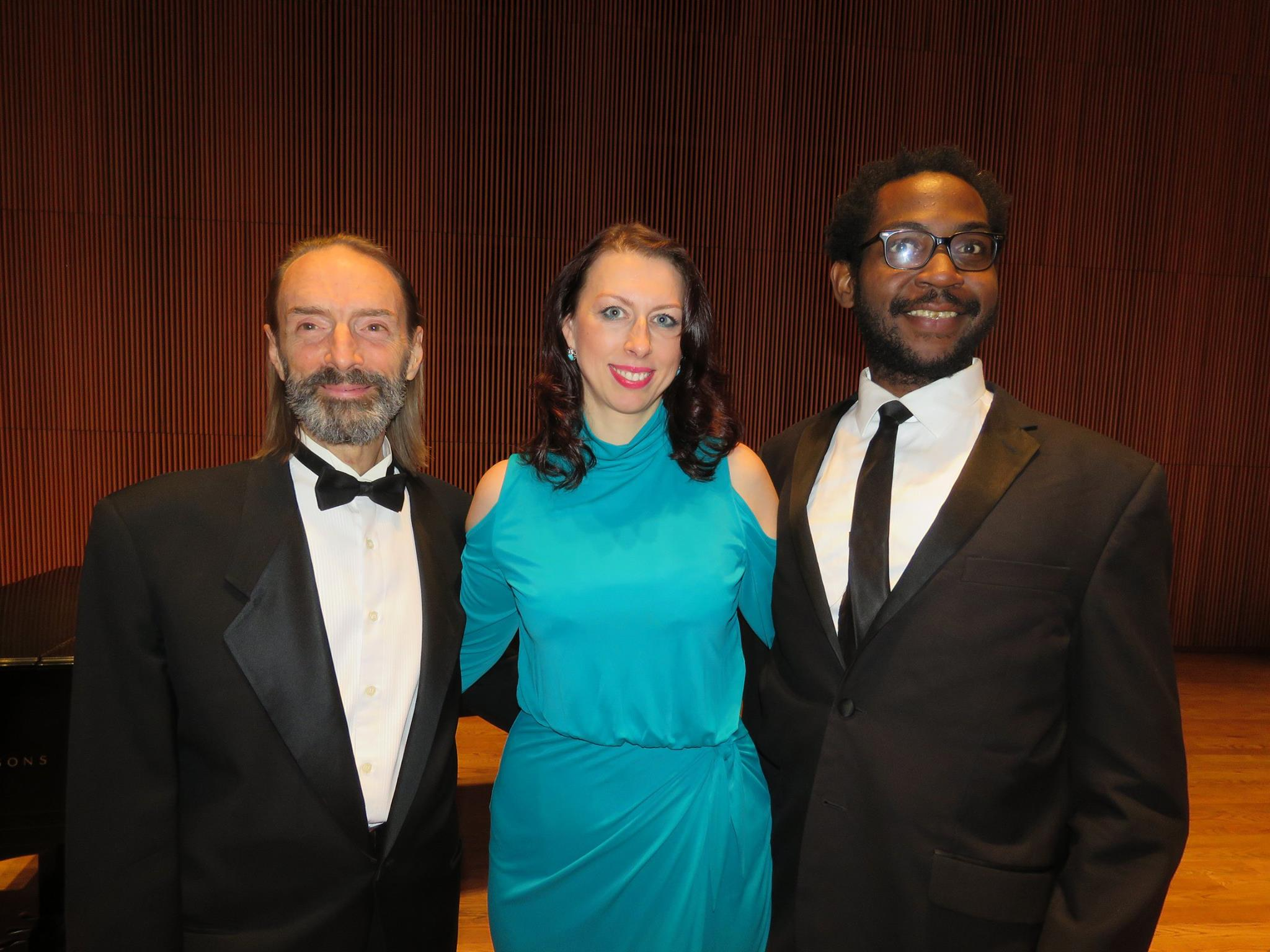 From Left: Me, Mezzo =-Soprano Viktoryia Koreneva, Tenor Lindell Carter