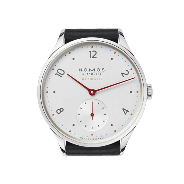 The playful use of colour separates the Minimatik from traditional dress watches