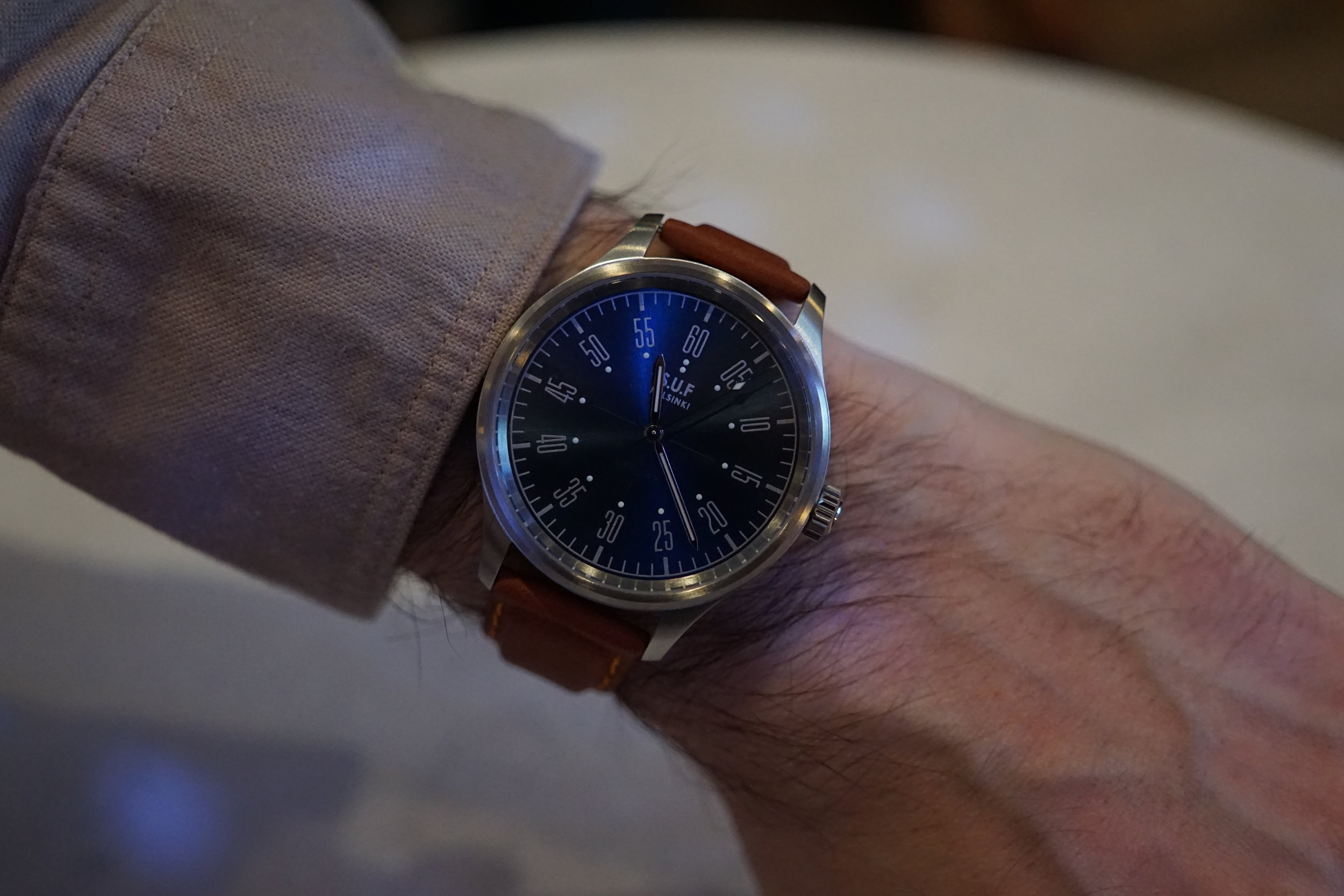 The just released Kelloharrastajat Myrsky on the wrist of a happy new owner.