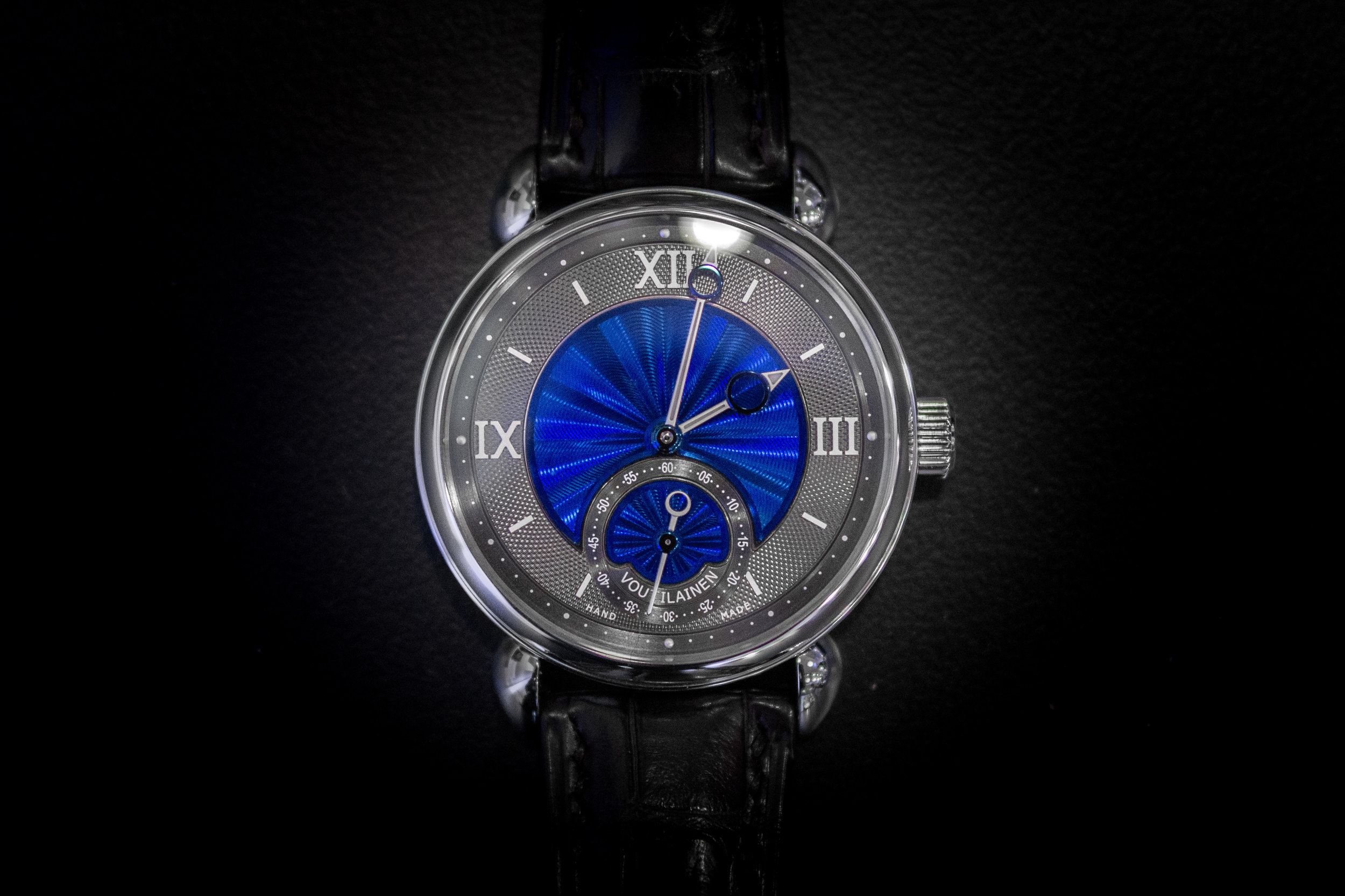 This Vingt-8 was one of the two watches Voutilainen had brought to the show.