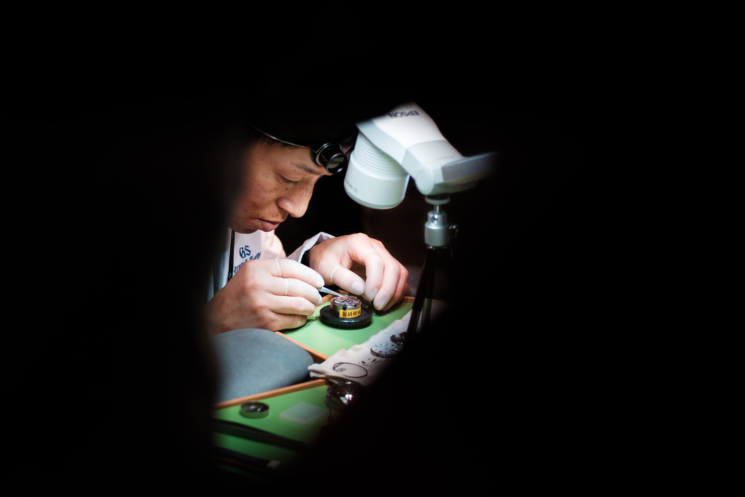 The Master Watchmaker at work.