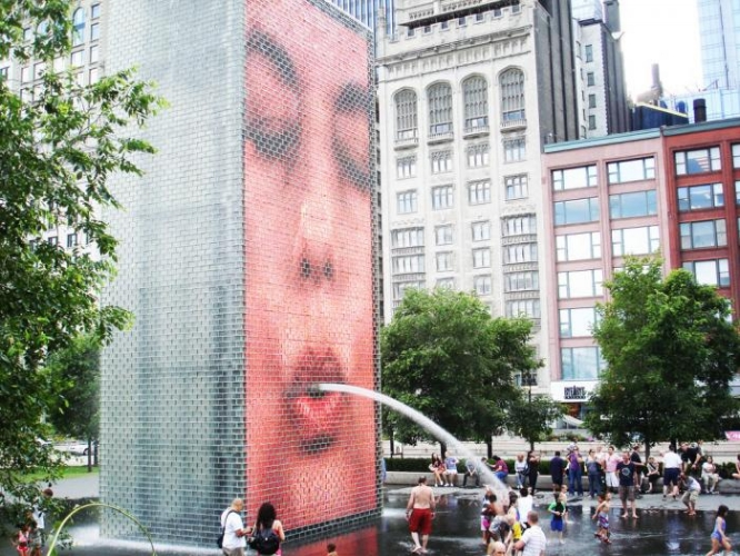 Millenium Park - the fountains