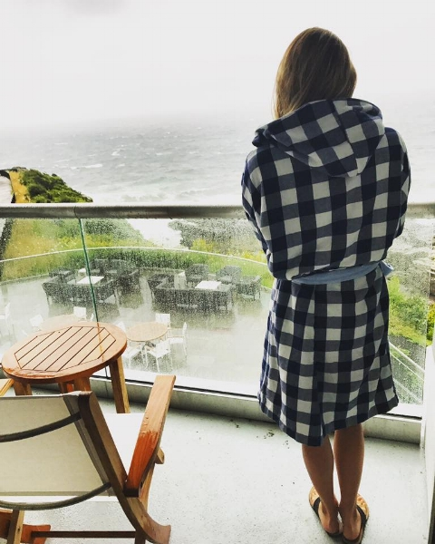 The view (and the bathrobes!)