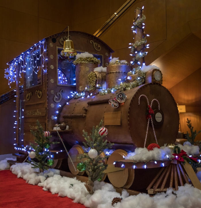 Life-sized chocolate train