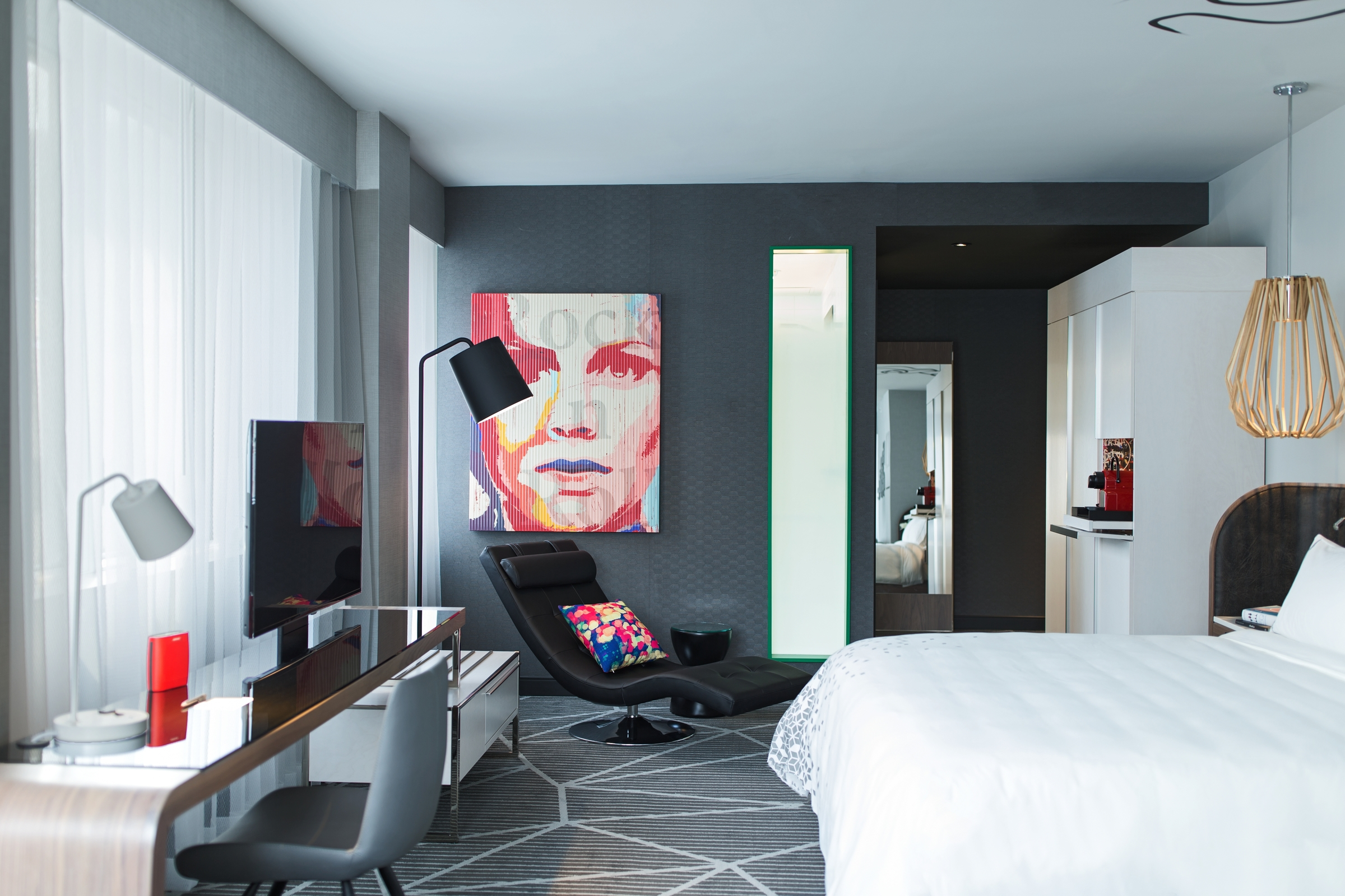 The rooms are colourful, funky and design-oriented
