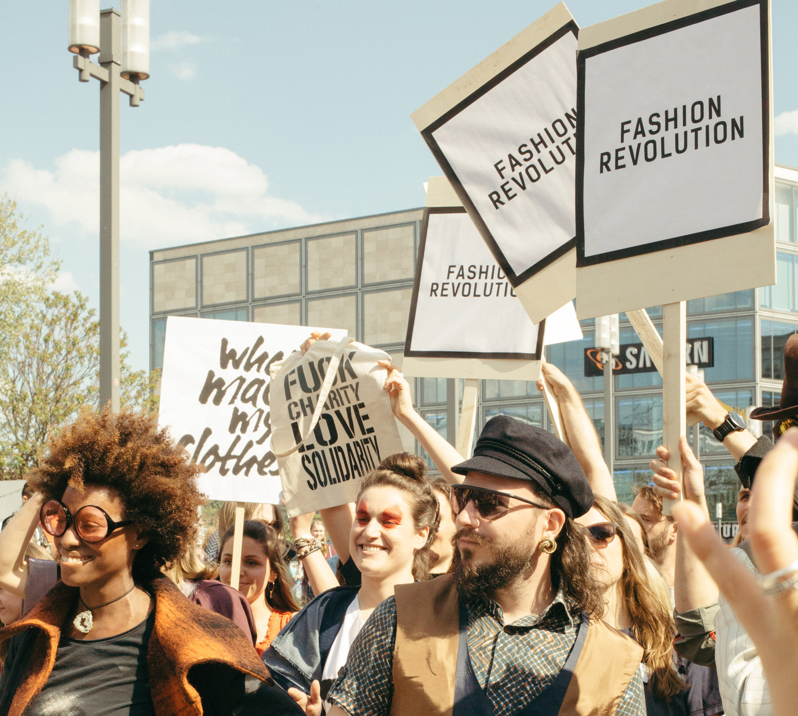 Fashion Revolution 2018 Flash Mob at Alexanderplatz, Berlin / captured by Nikolett Madai