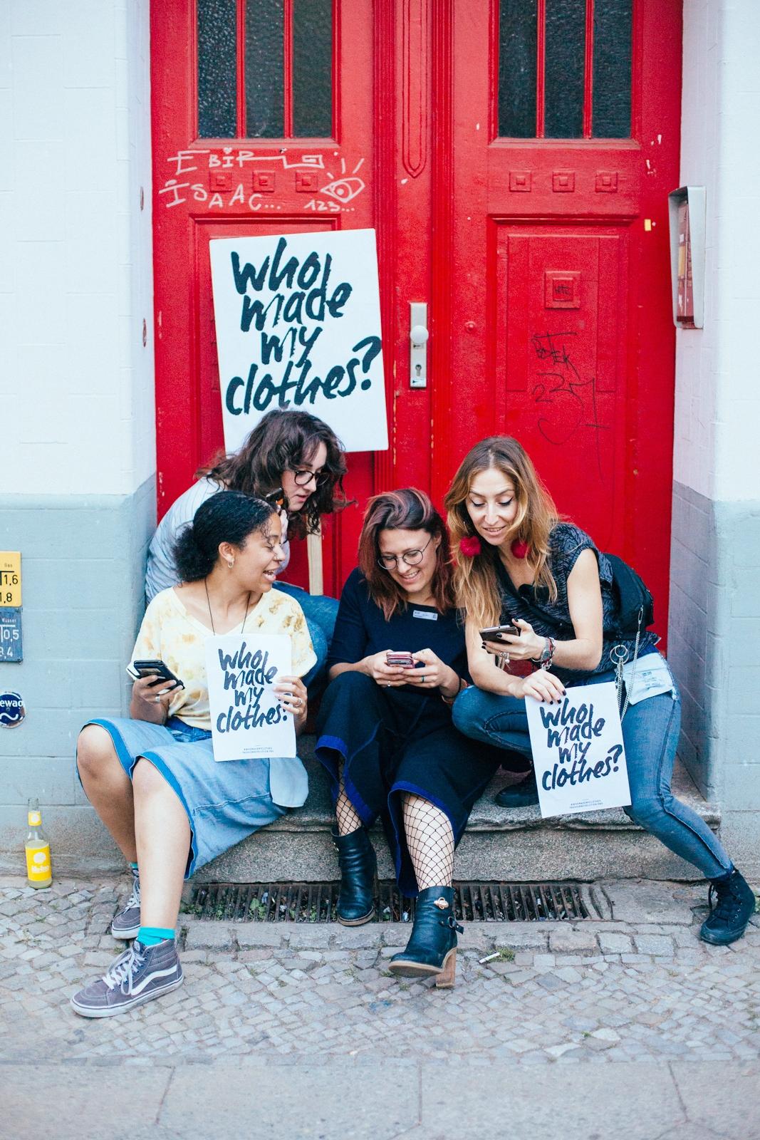 L -> R: Cherelle Abram (Facebook), Lisa Reannan (Facebook), Nora Milena Vehling (Twitter and general coordination), Mariángeles Aguirre (Instagram) / ©️Cherie Birkner