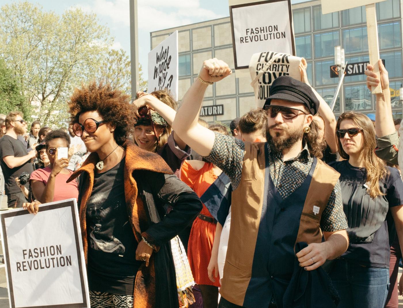 Max Gilgenmann rocking the Fashion Revolution show in Berlin / captured by Nikolett Madai