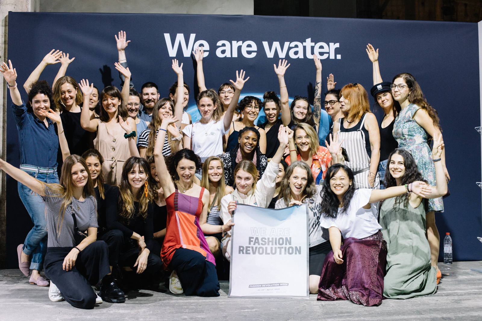Group photo of the Fashion Revolution Assembly attendees
