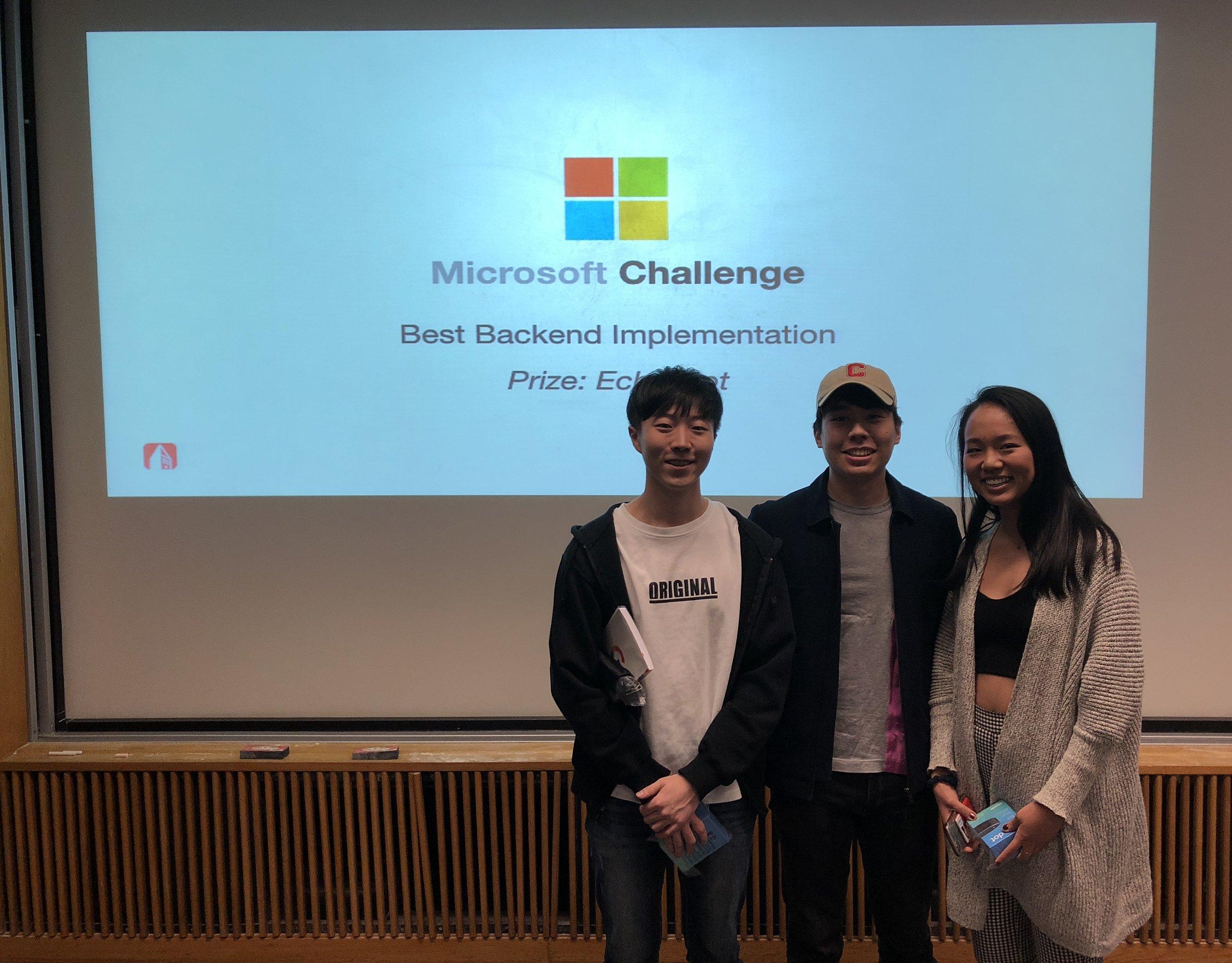 Jared Lim (Backend), Ji Hwan Seung (TA), Cindy Pan (iOS)