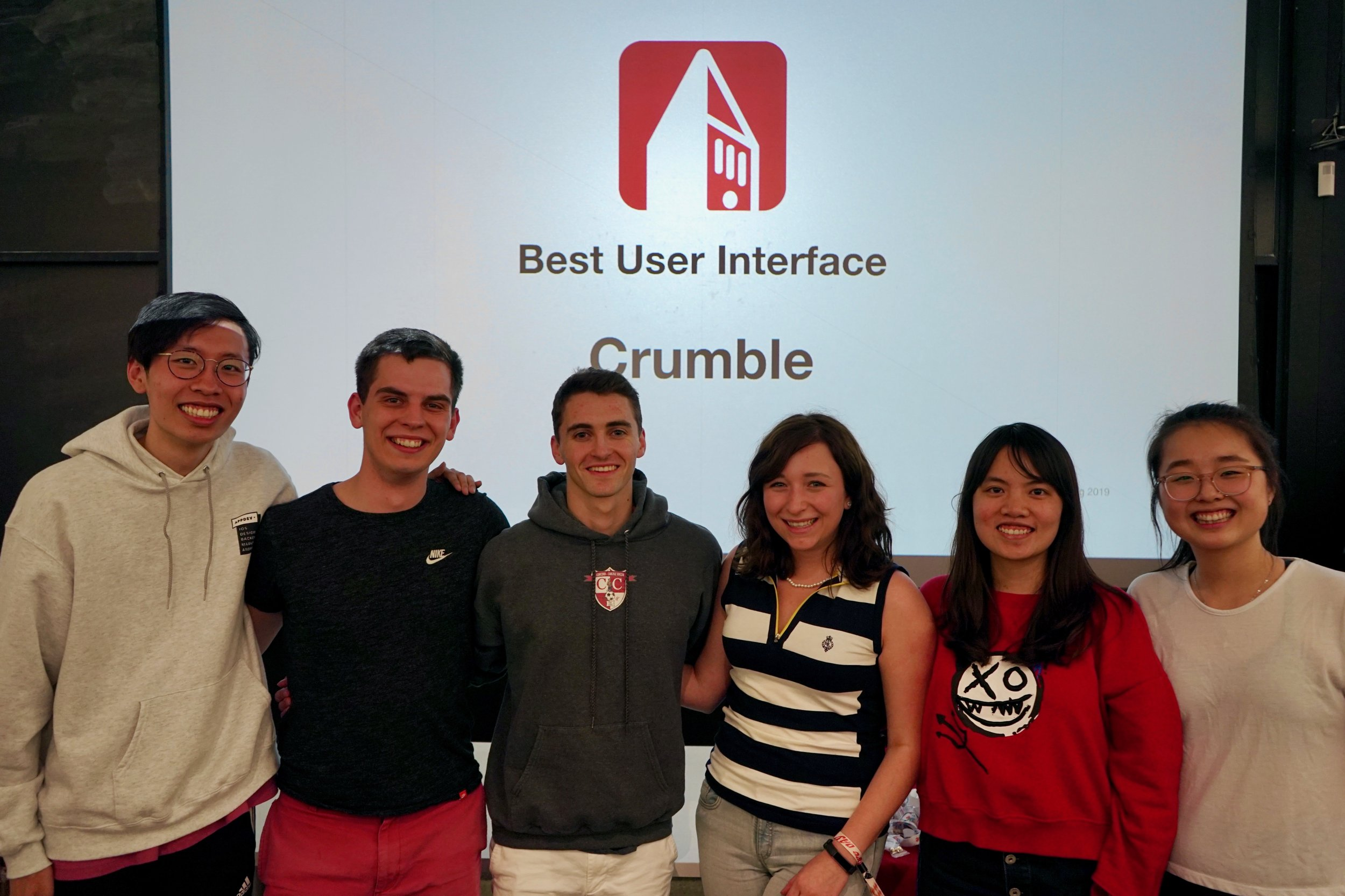Young Kim (TA), Nathan Stack (iOS), Will Tappen (Backend), Beth Mieczkowski (iOS), Yue Sun (Design), Lucy Xu (TA)