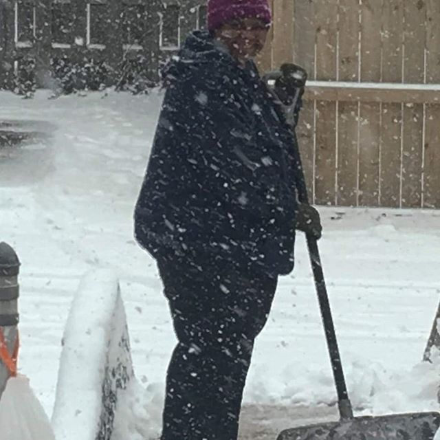 Even during frightful weather, our residents love giving a helping hand.  #stlouisgram #stlweather #intellectuallydisable
