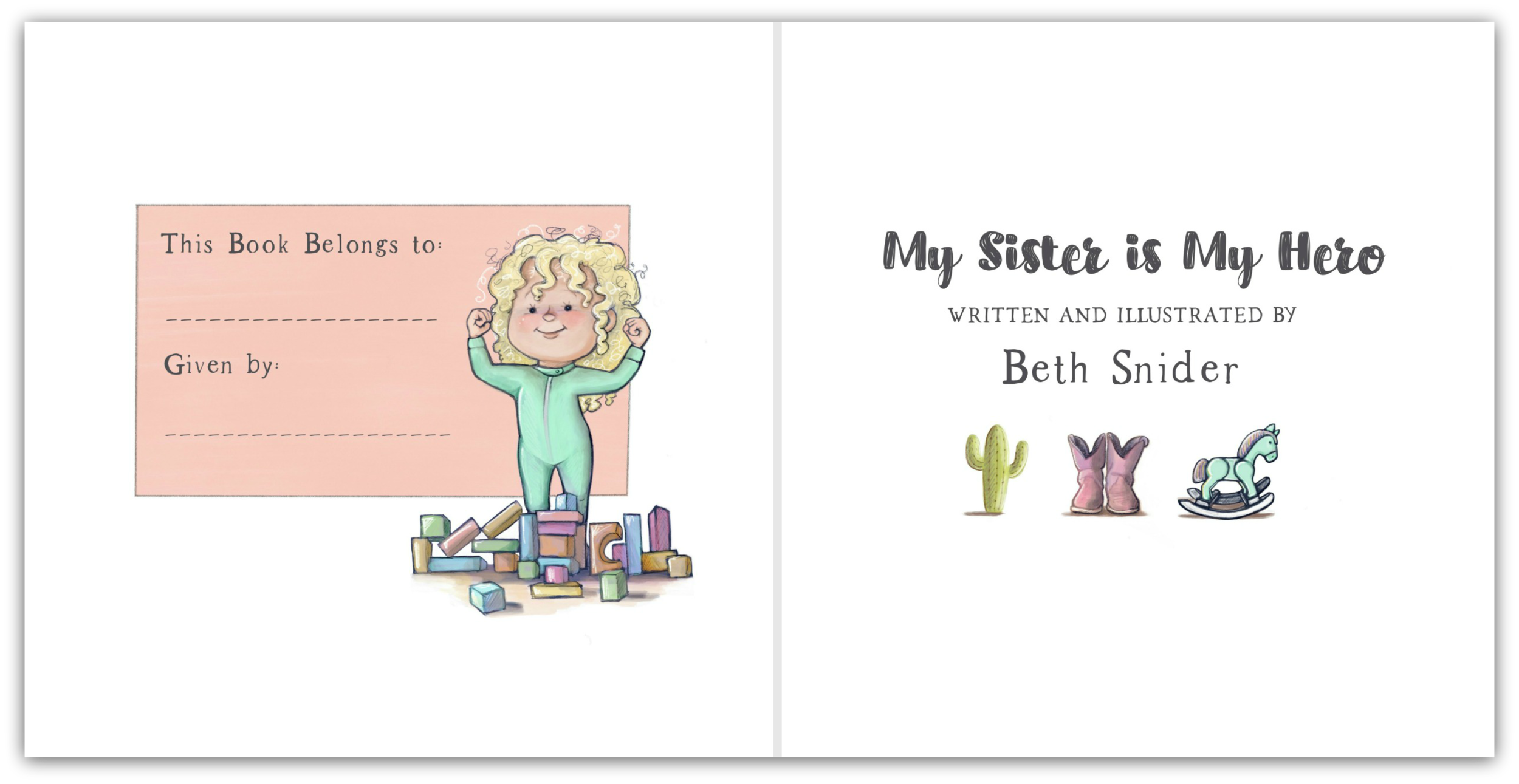 Title Page - My Sister Is My Hero - by Beth Snider