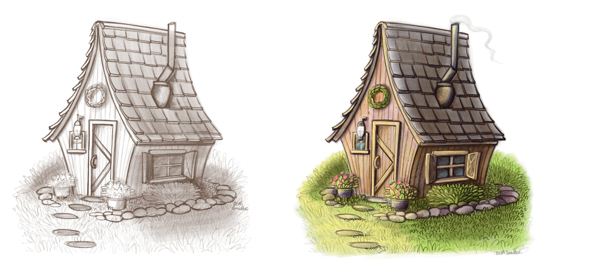 Houses Sketch and Color 2 .jpg