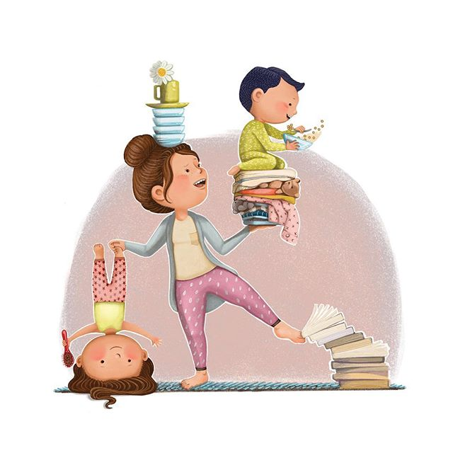 A mom can balance ANYTHING... most days... but sometimes, when they can't, it's ok too. I basically did nothing all weekend. And I am better for it! . . . . . . #childrenswritersguild #children_illustrations #best_of_illustrations #best_of_illustration #childrenbookart #artistsoninstagram #bethsniderart #kansascity #cozytimestories #illustration #illustrator #drawing #mothersday #mothers #momlife #momlifebelike #artistsoninstagram #freelanceillustrator #momsandkids @childrenbook_art @children_illustrations @childrenswritersguild