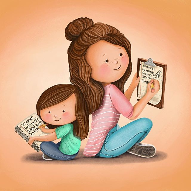 "Those times you cross off your ""to-do list"" to do someone else's! . . . . . #childrensbooks #children_illustration #childrenbookillustration #childrenbookart #children_illustration #best_of_illustration #illustration #artistsoninstagram #illustrationartists #drawing #kansascity #bethsniderart #motherhood #motherdaughter #todolists @best_of_illustrations @childrenswritersguild @childrenbook_art @cozytimestories @childrensbookillustration @children_illustrations"