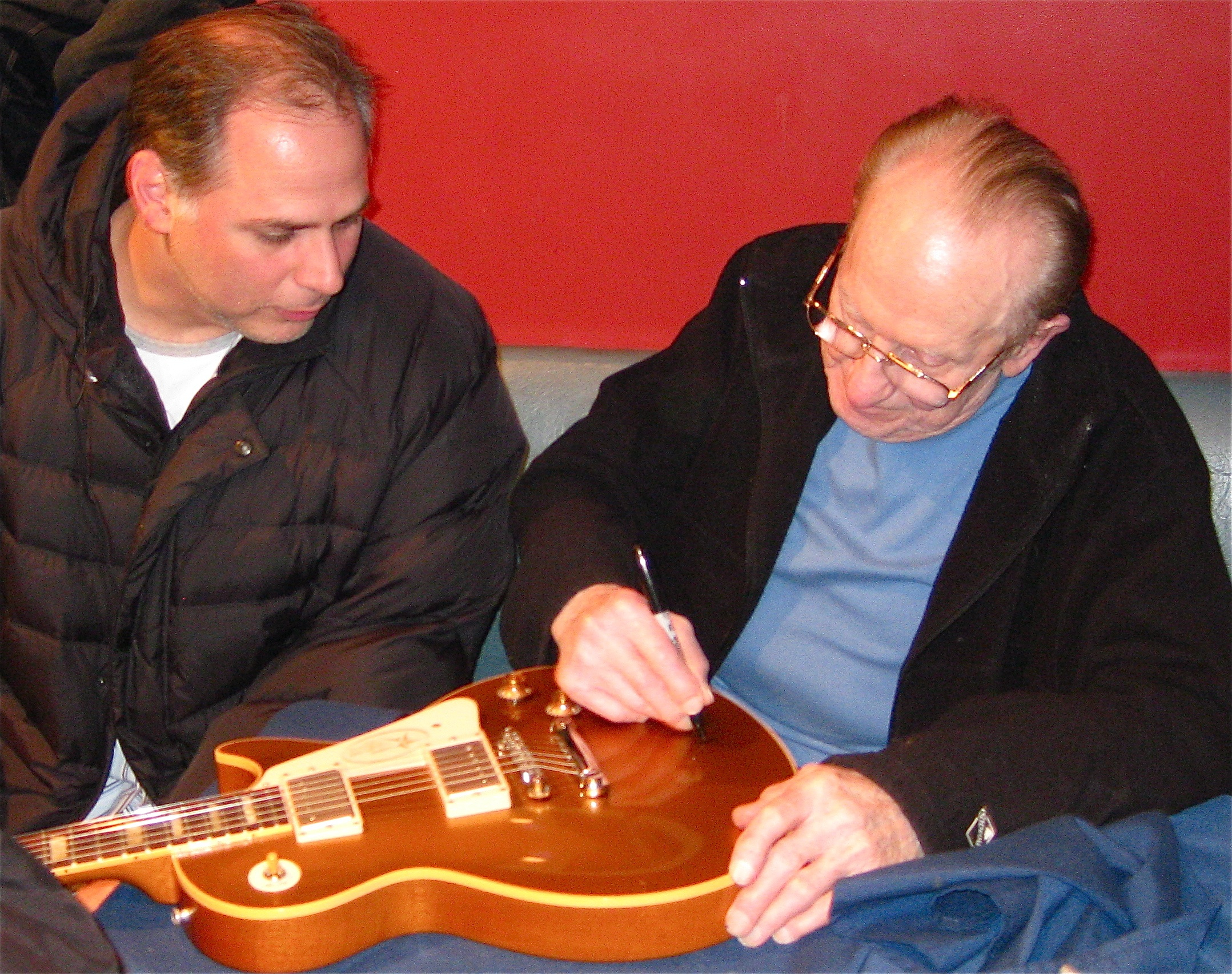 Les Paul and me.JPG