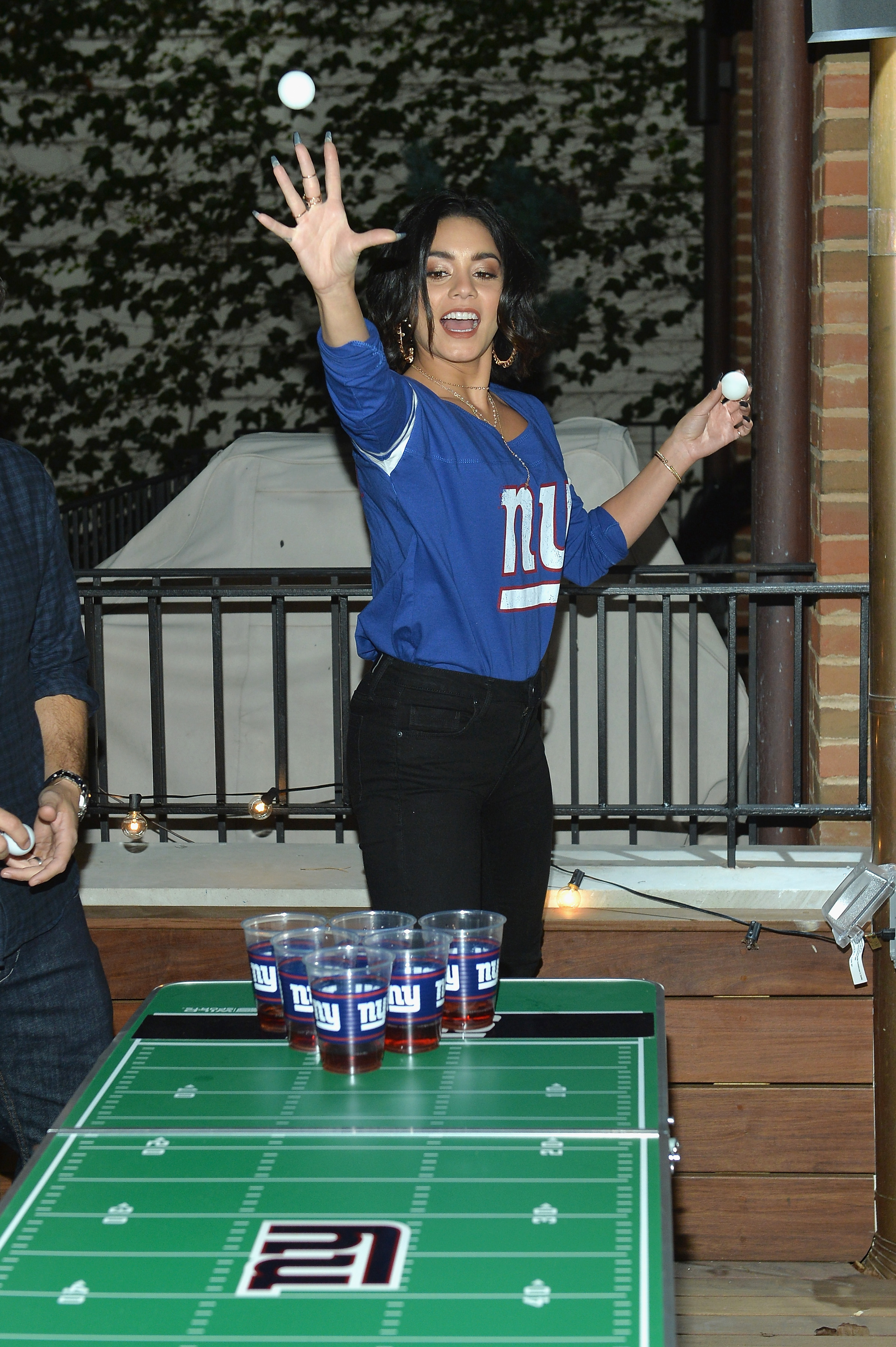 Vanessa Hudgens at the Booking.com Football House(3).jpg