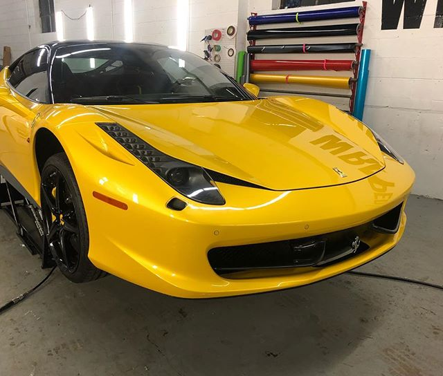 #alldone #wrappedchicago #ppf #paintprotrectionfilm #clearbra #chipguard #stek #3m #scotchgard #wrappededges #ferrari #458
