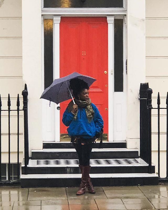 London be rainy af ☔️☔️ • • • • • #whoaskedashley #blackgirlmagic #london #blackgirlstravel