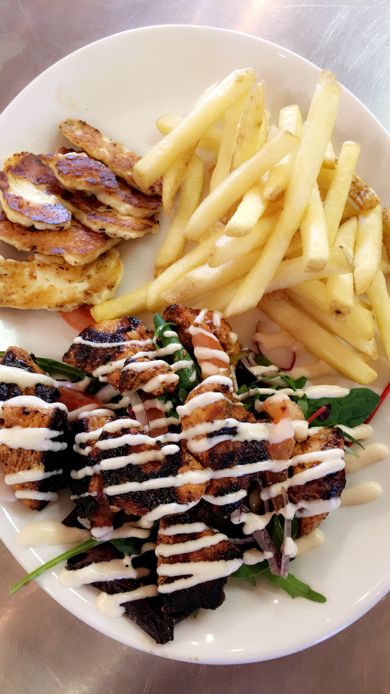 Waffle Cafe - Lunch Grilled Chicken & Chips.JPG