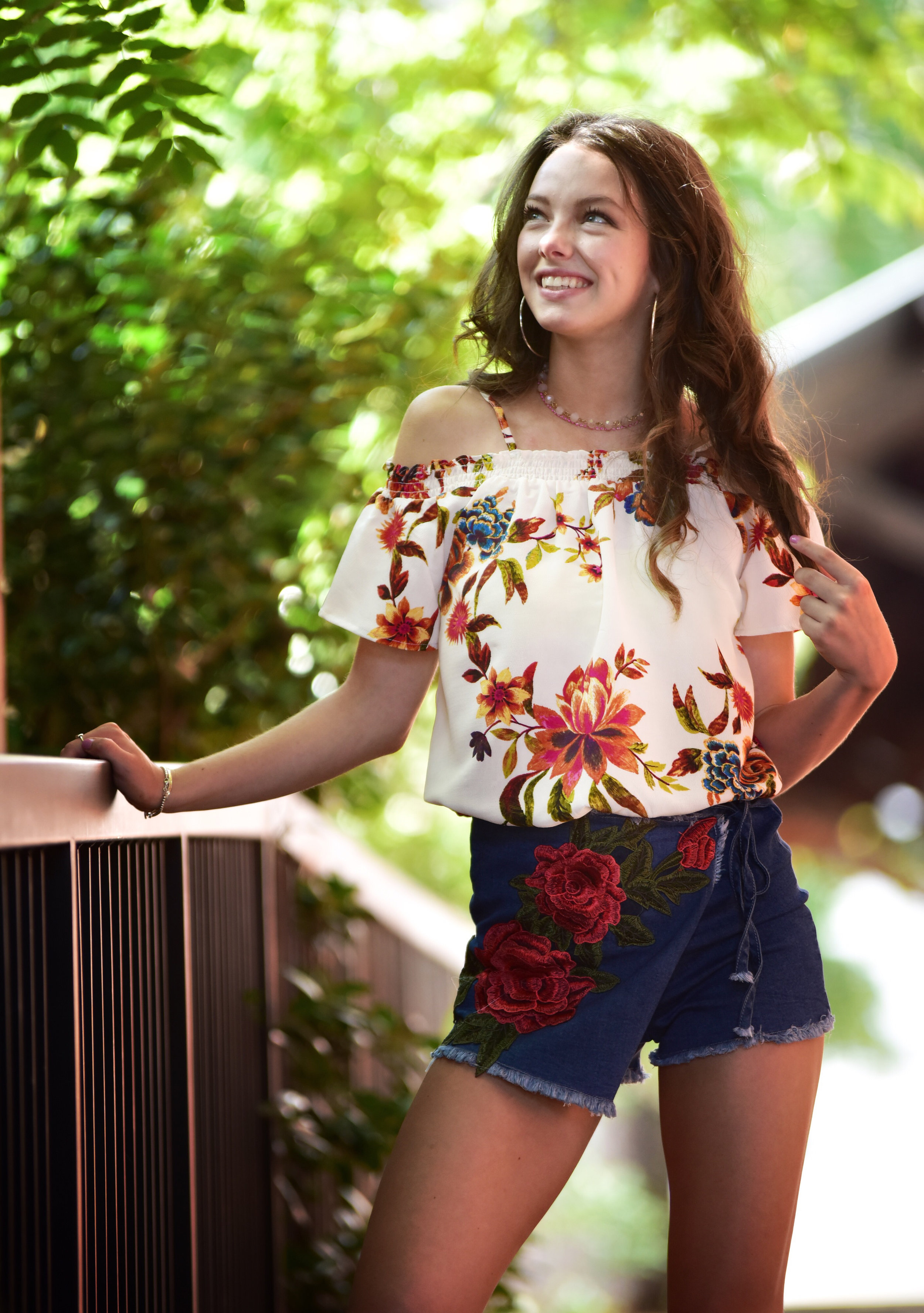 TOP  is off the shoulder tank under $15 from good ol' Marshalls   SKORT  (also featured in rose appliqué blog post  here )