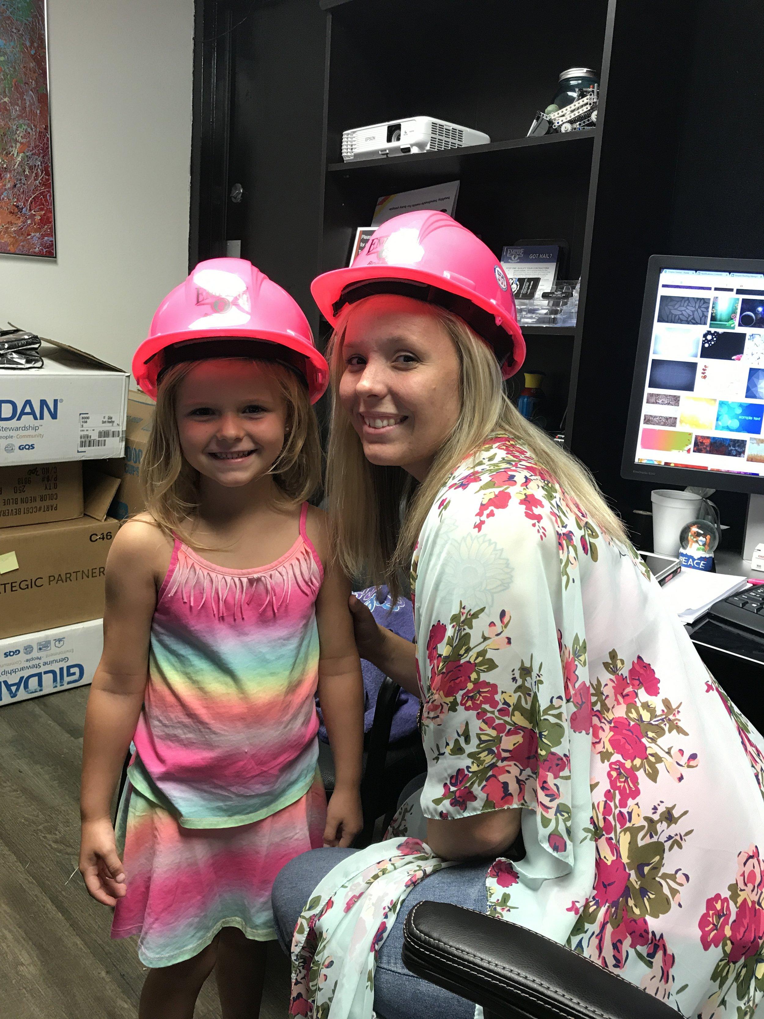 Pink Hard Hats!