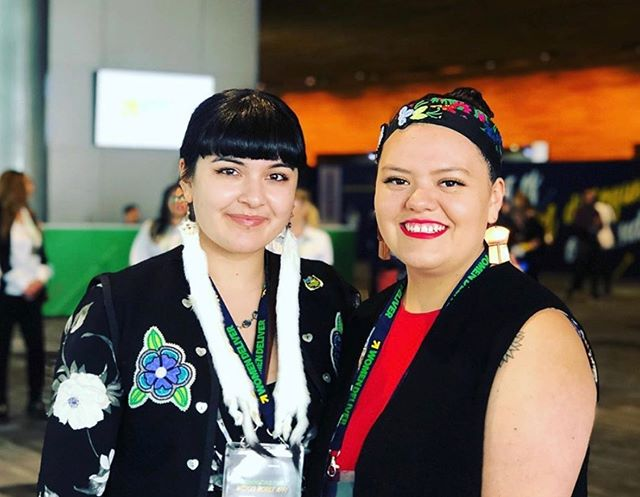 This week we are at the Women Deliver 2019 conference in Vancouver with 8000 delegates from around the world! 🌎 As young indigenous women #ThePowerOfUs means using our voices to break the cycle of lateral violence experienced within our communities and create meaningful change for our future generations. #WD2019 #WomenDeliver2019 #EndViolence #MMIW #YouthForLateralKindness