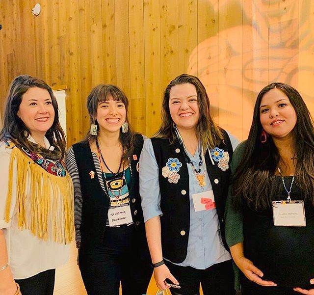 Co-Founder Aurora Hardy had the opportunity to speak on a young emerging indigenous leaders panel at the Yukon Links to Learning Symposium today!  She was joined by young leaders Heather Dickson and Stephanie Masterman who both do phenomenal work for furthering community empowerment.  Aurora spoke about the roots of lateral violence in Indigenous communities, the Blanket Exercise, and our work with youth in the Yukon. ❤️ #youthforlateralkindness #youngleaders