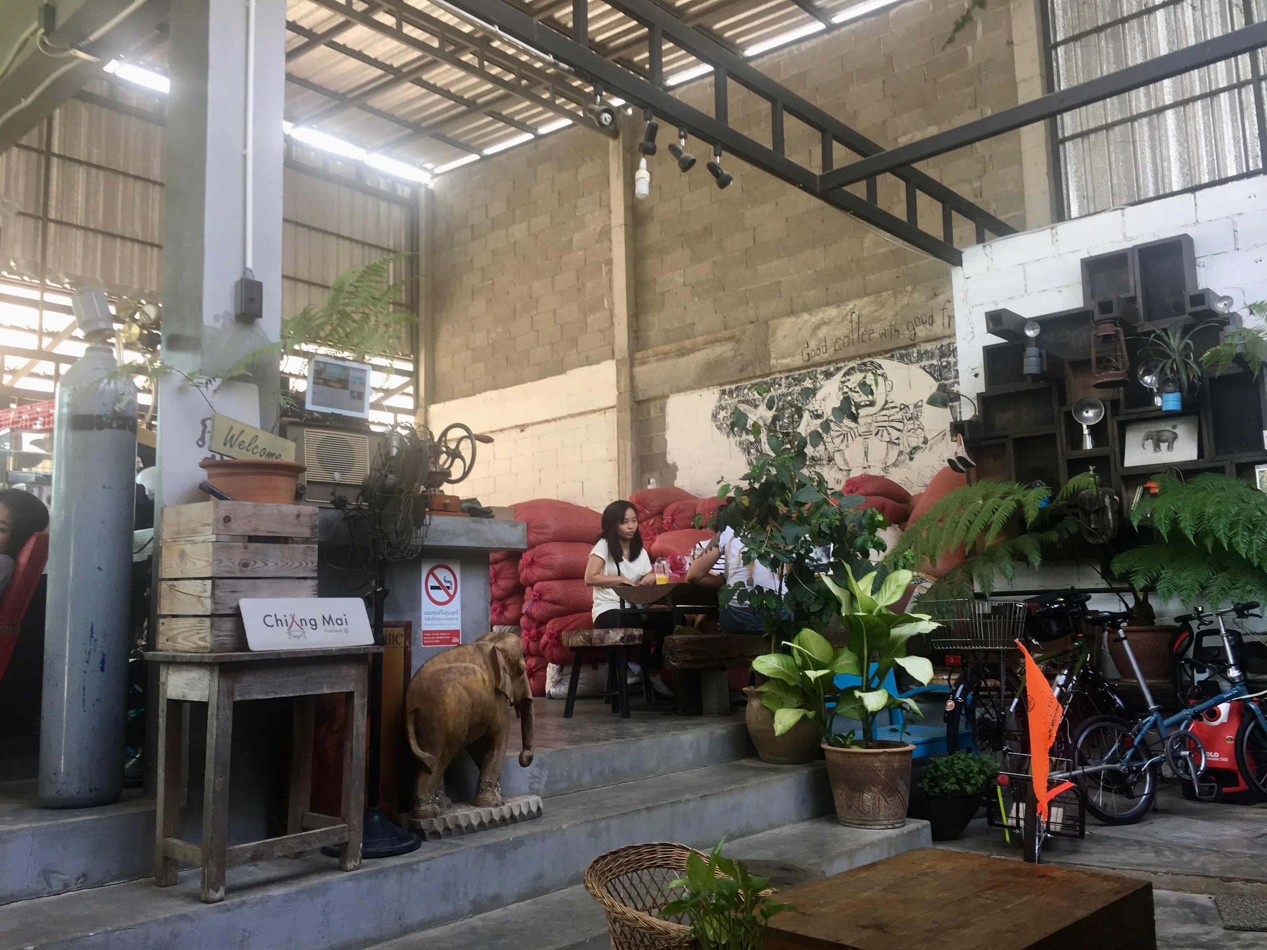 Pai is full of amazing coffee shops - this one was right next to our hostel.